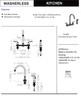 Designers Impressions 651669 Oil Rubbed Bronze Kitchen Faucet w/ Sprayer