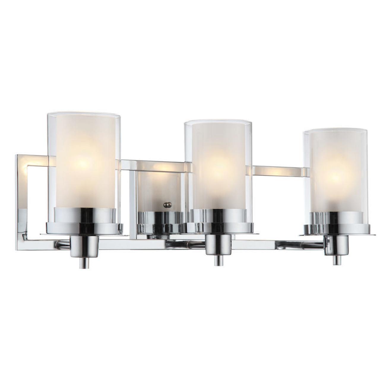 73487 Brushed Brass Juno Series 3 Light Bath /& Wall Fixture