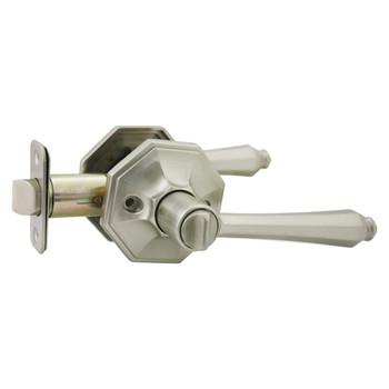 Designers Impressions Windsor Design Satin Nickel Privacy Door Lever: 22-7766