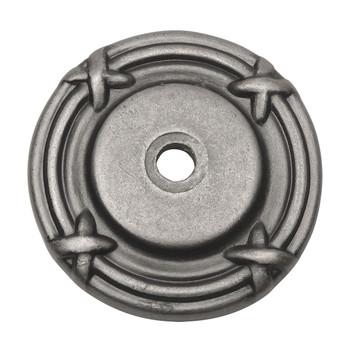 Cosmas 9468WN Weathered Nickel Cabinet Knob Backplate