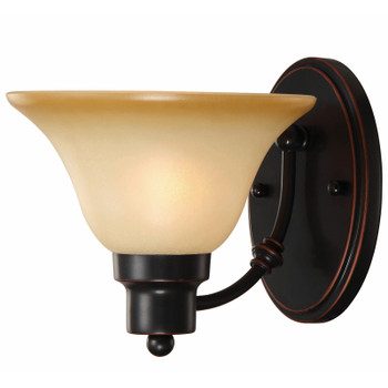 Oil Rubbed Bronze 1 Light Wall Sconce / Bathroom Fixture : 16-7147