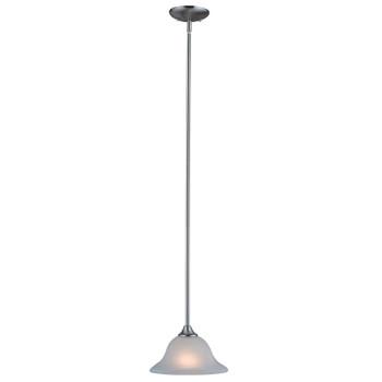 Satin Nickel Mini-Pendant Light Fixture : 10-4364