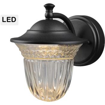 Black Outdoor Patio / Porch Exterior LED Light Fixture: 21-1772-Small