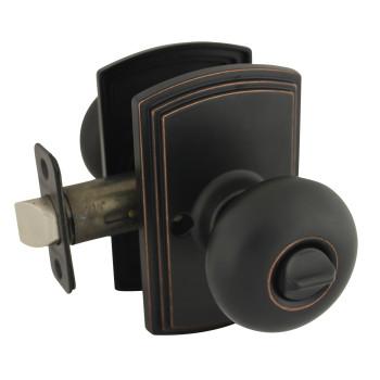 Delaney Santo Design Oil Rubbed Bronze Privacy Door Knob (Bed & Bath): 102T-SN-US10