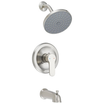 Designers Impressions 615717 Satin Nickel Single Handle Tub / Shower Combo Faucet