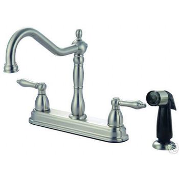 Crystal Cove 42-5819 Satin Nickel Kitchen Faucet w/ Sprayer
