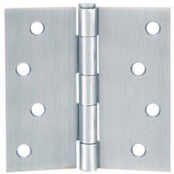 """Cosmas Satin Nickel Door Hinge 4"""" with Square Corners: 37687"""