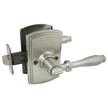 Delaney Sorado Design Satin Nickel Privacy Door Lever (Bed & Bath): 502T-SO-US15