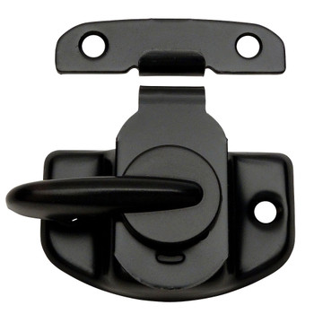 Designers Impressions Flat Black Cam Action Window Sash Lock and Keeper: 53638