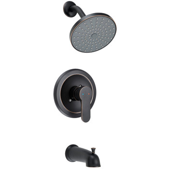 Designers Impressions 659638 Oil Rubbed Bronze Single Handle Tub / Shower Combo Faucet