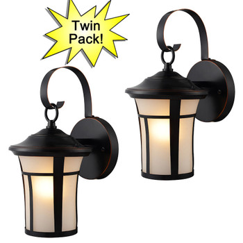 Oil Rubbed Bronze Outdoor Patio / Porch Exterior Light Fixtures - Twin Pack : 10019