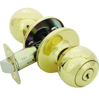 Designers Impressions Ashland Design Polished Brass Entry Door Knob