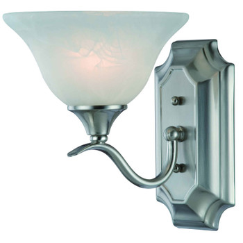 Satin Nickel 1 Light Wall Sconce / Bathroom Fixture : 10-4517