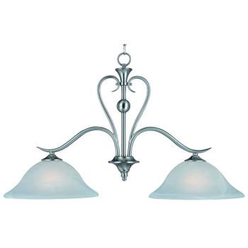 Satin Nickel 2 Light Pendant Light Fixture : 10-4104