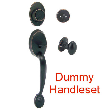 Designers Impressions Frankfort Oil Rubbed Bronze DUMMY Traditional Handleset w/ Somerset Interior: 33-8001/2644