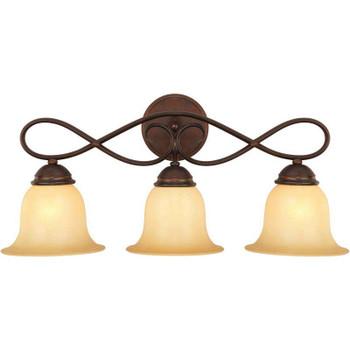 Bennington Antique Bronze 3 Light Vanity Light Fixture: 10-1059