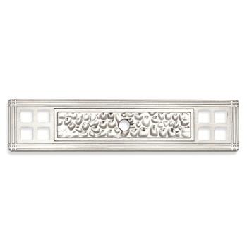 Cosmas 10552SN Satin Nickel Zinc Cabinet Knob Backplate