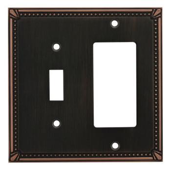 Cosmas 44072-ORB Oil Rubbed Bronze Single Toggle / GFCI Decora Combo