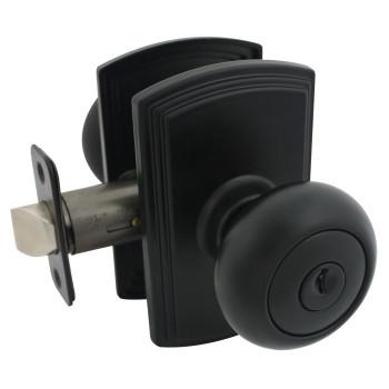 Delaney Santo Design Black Entry Door Knob (Front & Back): 100T-SN-BLACK
