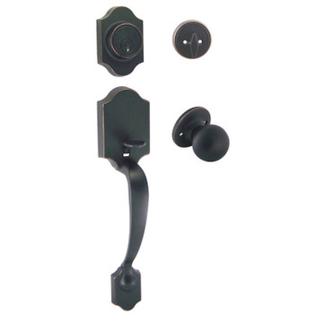 Designers Impressions Valhala Oil Rubbed Bronze Traditional Handleset with Ashland Interior: 33-9000/2144