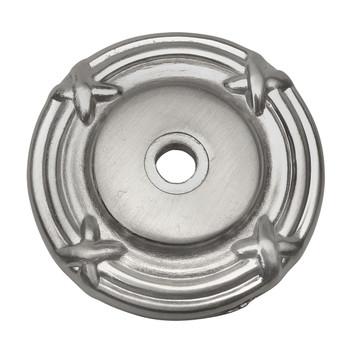 Cosmas 9468SN Satin Nickel Cabinet Knob Backplate