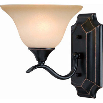 Oil Rubbed Bronze 1 Light Wall Sconce / Bathroom Fixture : 12-7967