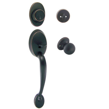 Designers Impressions Frankfort Oil Rubbed Bronze Traditional Handleset with Ashland Interior: 33-8000/2144