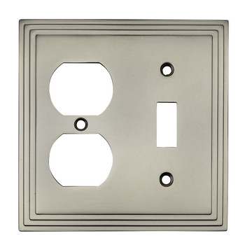 Cosmas 25068-SN Satin Nickel Single Toggle / Duplex Combo