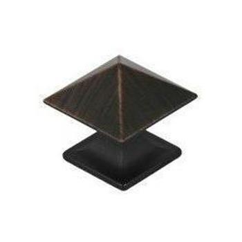 Pro Value Series SZEL1-3-ORB Oil Rubbed Bronze Square Zinc Cabinet Knob