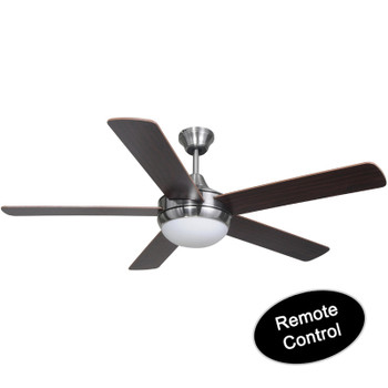 "Riverchase Satin Nickel Remote Control 52"" Ceiling Fan w/ Light Kit : 1069"
