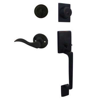 Cosmas 600 Series Oil Rubbed Bronze Handleset with 80 Series Interior: HS600/89-ORB
