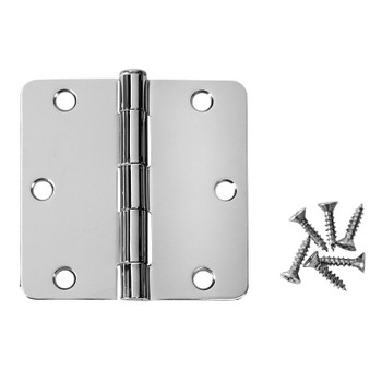 "52-0726 Polished Brass Door Hinges 4/"" with 1//4/'/' radius Corners/"""