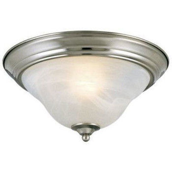 Satin Nickel Flush Mount Ceiling Light Fixture : 54-4650