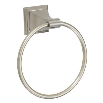 Designers Impressions 400 Series Satin Nickel Towel Ring: BA404