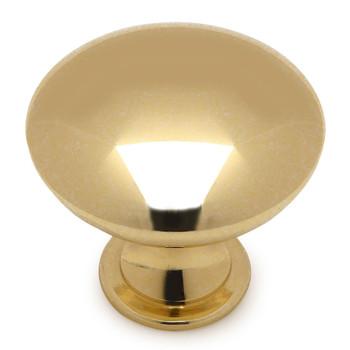 Cosmas 5305PB Polished Brass Round Cabinet Knob