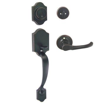 Designers Impressions Valhala Oil Rubbed Bronze Traditional Handleset with Arlington Interior: 33-9000/5444