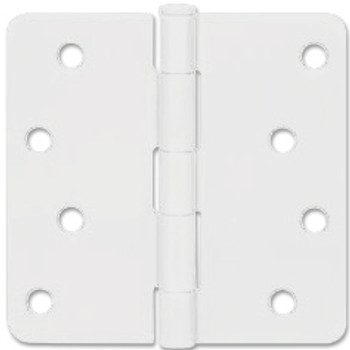 "White Door Hinge 4"" with 1/4"" Radius Corners: 52-2425"