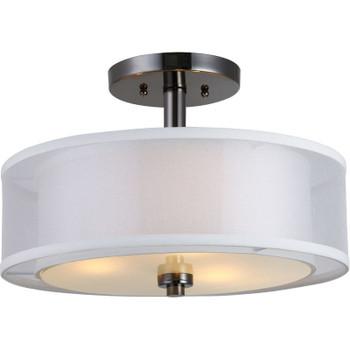 El Dorado Ebony Glaze Semi-Flush Mount Ceiling Light Fixture : 22-3997
