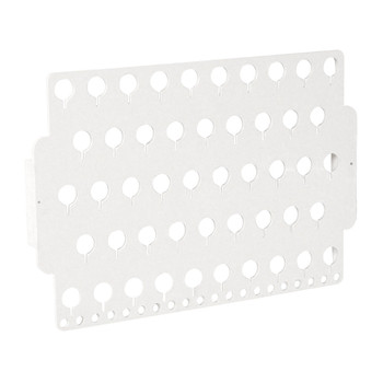 Designers Impressions JR30-WH White Acrylic Wall Mounted Organizer and Jewelry Display Rack