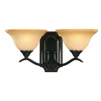 Oil Rubbed Bronze 2 Light Wall Sconce / Bathroom Fixture : 16-3262