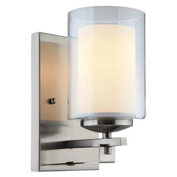 El Dorado Satin Nickel 1 Light Wall Sconce / Bathroom Fixture : 20-7997