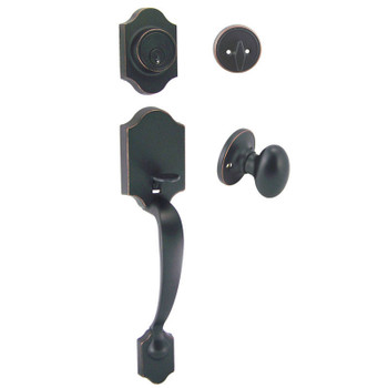 Designers Impressions Valhala Oil Rubbed Bronze Traditional Handleset with Somerset Interior: 33-9000/2644