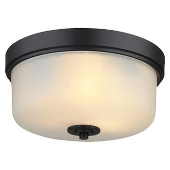 Lexington Oil Rubbed Bronze Flush Mount Ceiling Light Fixture: 20-8567