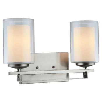 El Dorado Satin Nickel 2 Light Wall Sconce / Bathroom Fixture : 20-8079