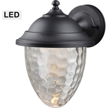 Black Outdoor Patio / Porch Exterior LED Light Fixture: 21-1444-Small