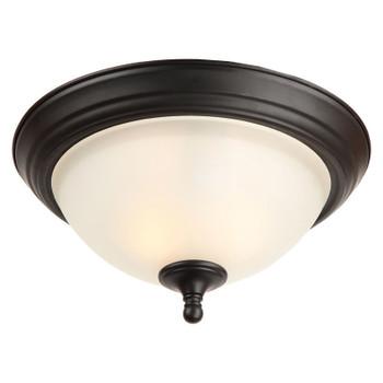 Galveston Matte Black Flush Mount Ceiling Light Fixture : 20-9892