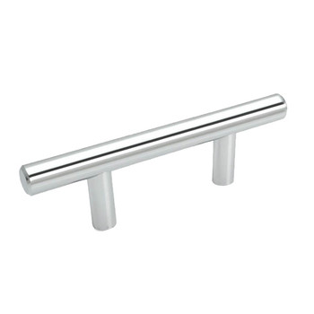 Cosmas 305-2.5CH Polished Chrome Cabinet Hardware Euro Style Bar Pull