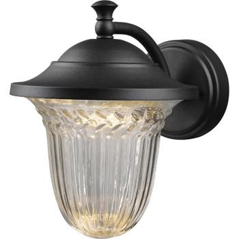 Black Outdoor Patio / Porch Exterior LED Light Fixture: 21-3677-Medium