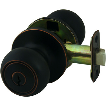 Cosmas 20 Series Oil Rubbed Bronze Entry Door Knob: DK20-ORB