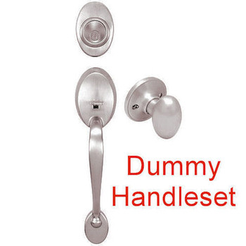 Designers Impressions Frankfort Satin Nickel DUMMY Traditional Handleset with Somerset Interior